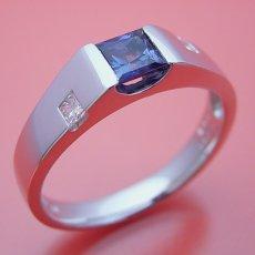 画像1: アレキサンドライトの婚約指輪 (1)