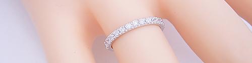 婚約指輪にも結婚指輪にも使えるエタニティーリング