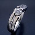 緻密な計算で作られた婚約指輪[DR3848]