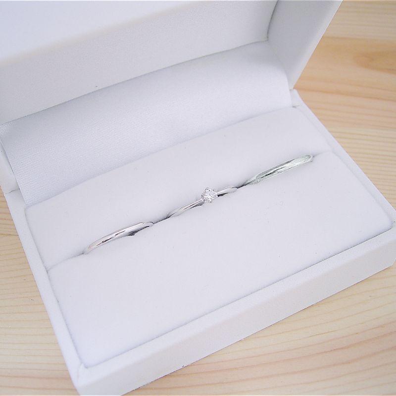 画像1: 婚約指輪・結婚指輪 ブライダルリング3点セット 10万円 (1)