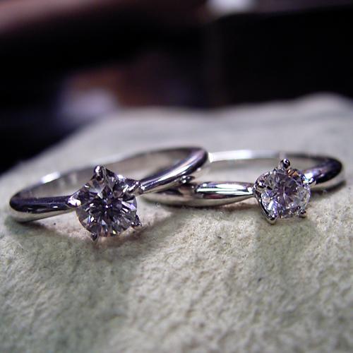 5本爪ティファニースタイルの婚約指輪
