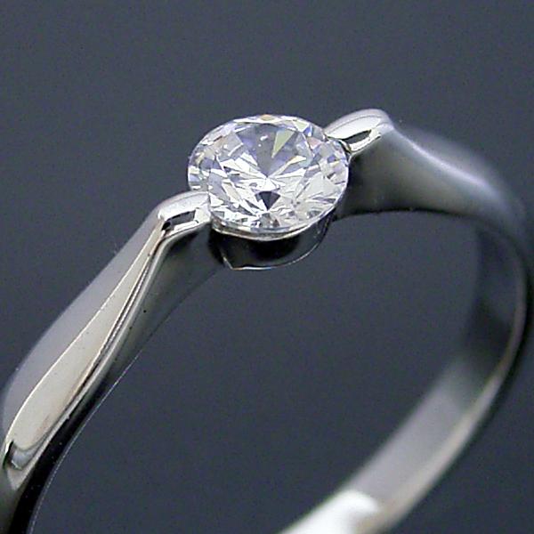 画像1: 2点留め伏せこみタイプの婚約指輪 (1)