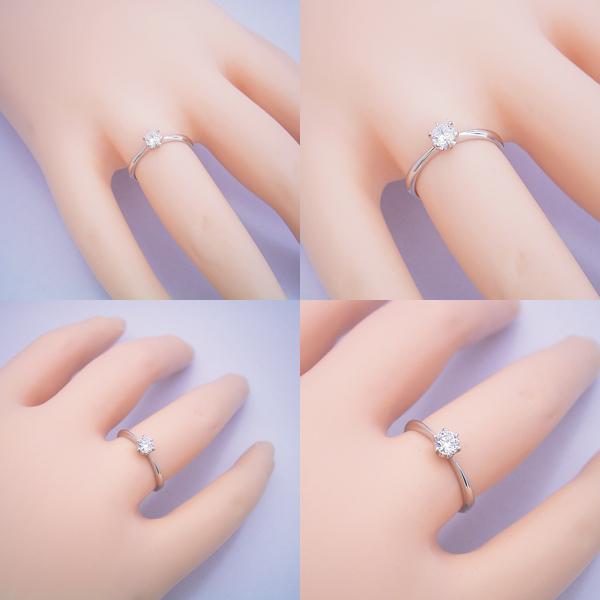 6本爪ティファニーセッティングの婚約指輪