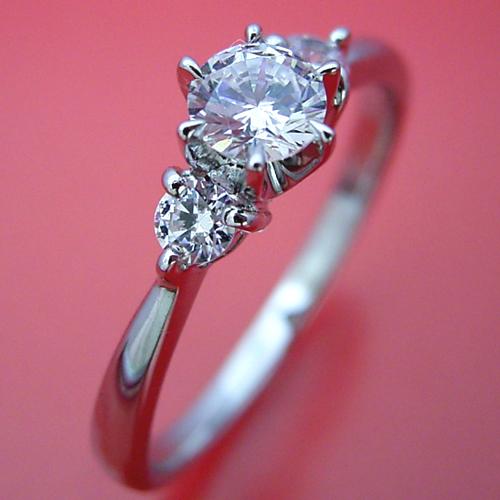 6本爪サイドメレスリーストーンタイプの婚約指輪 [BE-65]