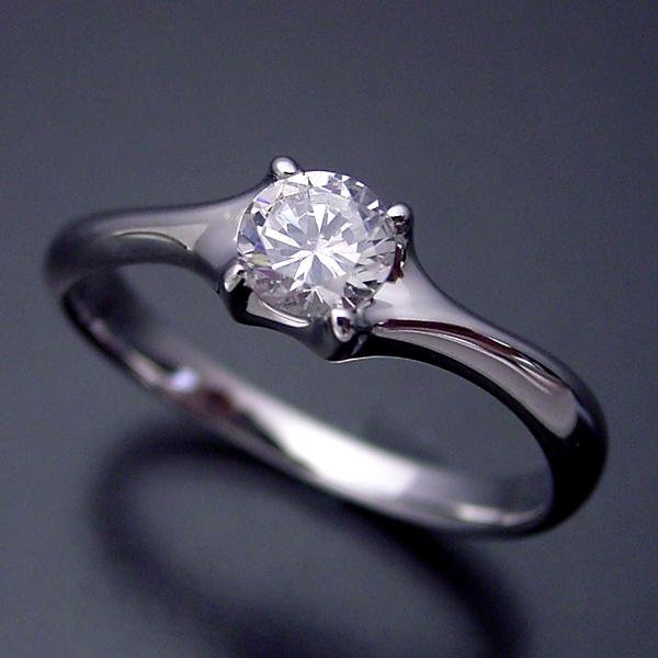画像1: 爪がしっかりとダイヤモンドを掴む婚約指輪 (1)