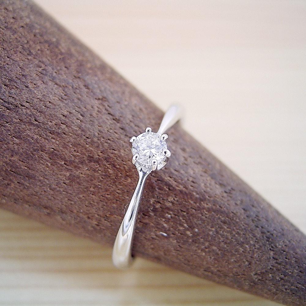 画像1: シンプルティファニーセッティングリング婚約指輪 (1)