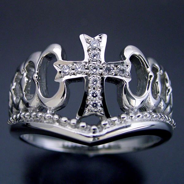 画像1: クロスモチーフがメインの結婚指輪 (1)