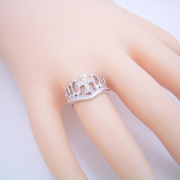 クロスモチーフがメインの結婚指輪 [No7639]