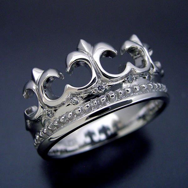 画像1: とても可愛らしいクロスモチーフの結婚指輪 (1)