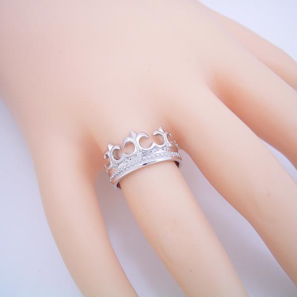 とても可愛らしいクロスモチーフの結婚指輪 [No7640]