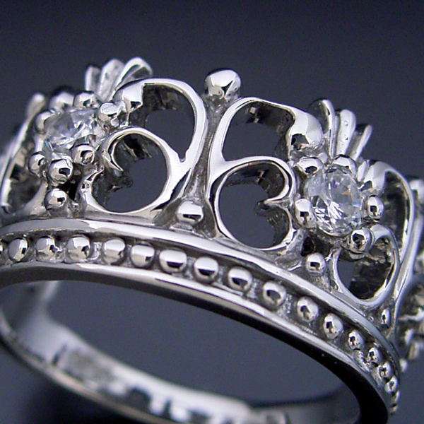 画像1: 豪華な王冠(クラウン)デザインの結婚指輪 (1)