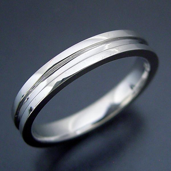 画像1: シンプルなラインの結婚指輪 (1)