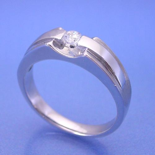 画像1: メンズリングのような婚約指輪 (1)