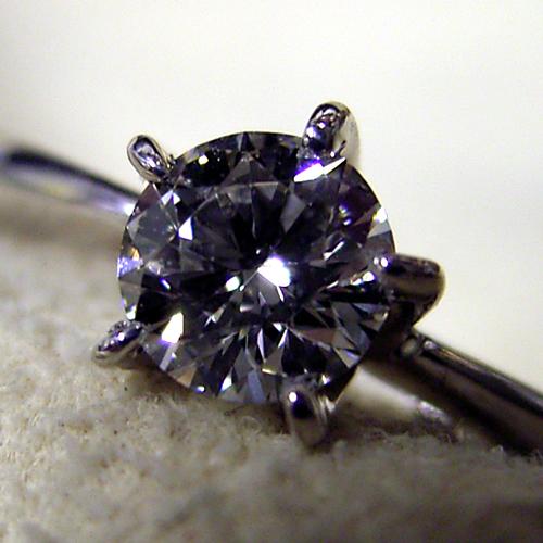 画像1: 5本爪ティファニースタイルの婚約指輪 (1)