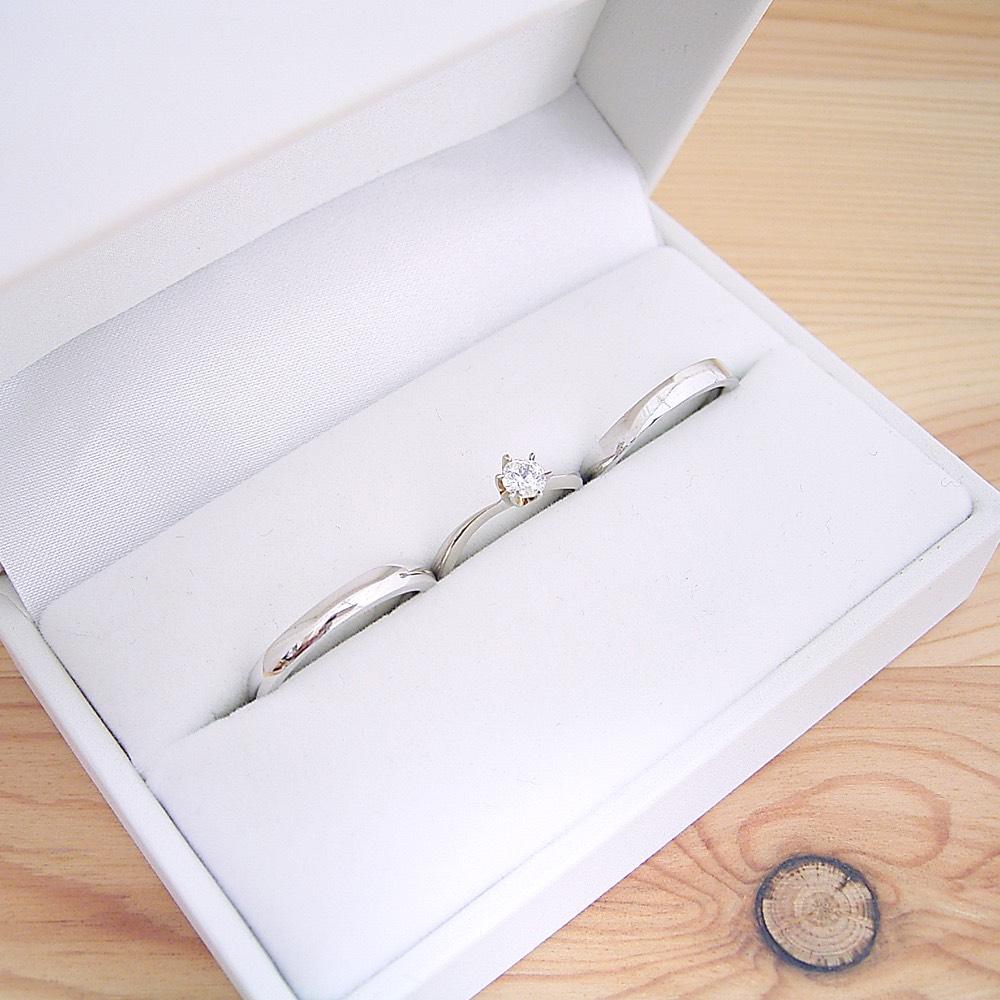 画像1: 婚約指輪・結婚指輪 ブライダルリングセット「アームデザインが新しいティファニーセッティングの婚約指輪」 (1)