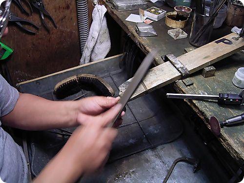 平打ちリング製作過程