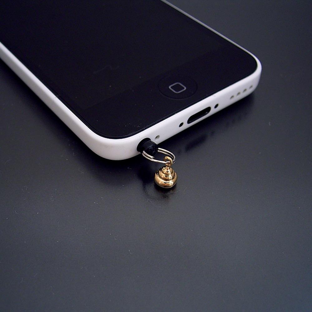 画像1: 金のうんこ(無垢モデル)にイヤホンジャックを取り付けました。 (1)