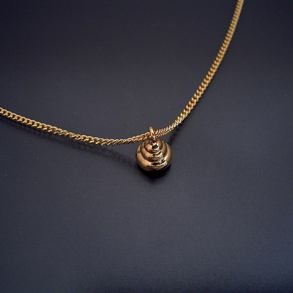 画像1: 金のうんこネックレス・ペンダント(フルモデル) (1)