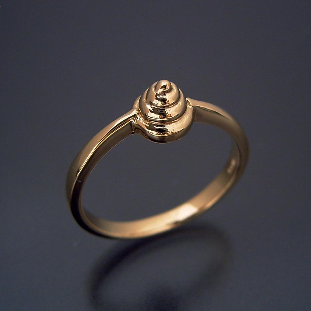 画像1: 金のうんこリング(宝石入り) (1)